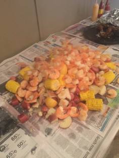 Proper shrimp boil for Mardi Gras